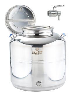Sansone Fût inox Europa pour huile 50 L avec robinet: Amazon.fr: Cuisine &…