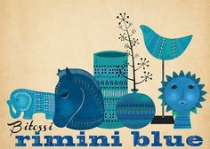 Bitossi Rimini Blue-Art Print-limited edition by sevenstar on Etsy
