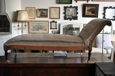 Napoleon III chaise longe, recently reupholstered by an artisanal upholsterer with hemp, linen and horsehair (it will last another 100 years, Neiley says), $1,200. Style: Shopping | Rural Intelligence