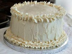 White Wedding Cake:  white cake mix, all-purpose flour, white sugar, salt, water, vegetable oil, pure vanilla extract, sour cream, large egg whites