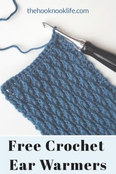 Make this cute and cozy crochet ear warmer using the Free Pattern on The Hook Nook Life Blog!