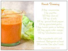 Homemade French Dressing - made it, turned out great, need to up the quantities