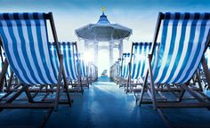 Southsea Deckchairs. Set such a relaxing scene on a beach or grassy lawn. a must for our  future home.