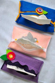 DIY Tissue Holder : DIY Pretty Pocket Tissue Holders