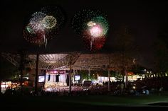 Fireworks at Verizon Wireless Amphitheatre at Encore Park.  Photo credit: Clark Savage