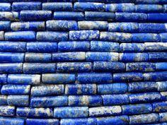 Lapis Lazuli Smooth Tube (Quality B) / 5x12 to 6x16 mm / 36 cm / LA-118 by beadsogemstone on Etsy