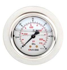 DMASS bourdon tube vibration resistant pressure gauge MBB06U (MBB06U) - China pressure gauge, DMASS