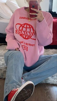 Indie Outfits, Retro Outfits, Cute Casual Outfits, Girl Outfits, Fashion Outfits, Mode Indie, Mode Ootd, Look Girl, Winter Fits