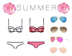 """""""Summer is back♡"""" by amanrose ❤ liked on Polyvore featuring Milly, Ray-Ban, women's clothing, women, female, woman, misses and juniors"""