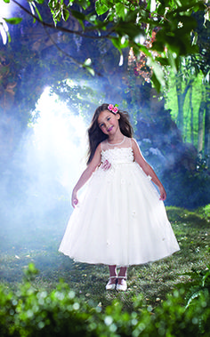 Disney's Fairy Tale Weddings by Alfred Angelo Sleeping Beauty flower girl dress, Style 725 #flower #girl #wedding