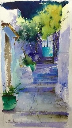 """Obtain wonderful recommendations on """"abstract art paintings to inspire"""". They are readily available for you on our site. Art Watercolor, Watercolor Pictures, Watercolor Landscape Paintings, Watercolor Illustration, Landscape Art, Watercolor Flowers, Simple Watercolor, Painting Abstract, Art Paintings"""