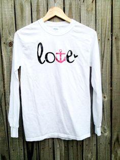NAVY Love Tshirt USN Girlfriend Wife Fiancé Mom on Etsy, $20.00