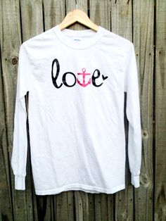 NAVY Love Tshirt USN Girlfriend Wife Fiancé Mom on Etsy, $20.00