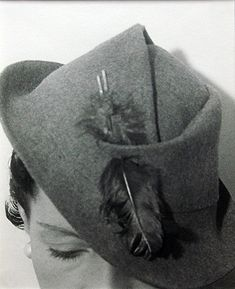 The Honourable Daisy Fellowes, Harper's Bazaar (Hat), 1933. by Isle Bing