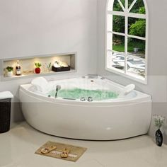 baignoire baln o d 39 angle manhattan whirlpool 38 jets jets manhattan et angles. Black Bedroom Furniture Sets. Home Design Ideas
