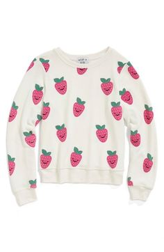 Wildfox 'Happy Berries - Baggy Beach Jumper' Sweatshirt (Big Girls) available at #Nordstrom