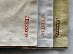 DIY Project: Chain of Heart Napkins