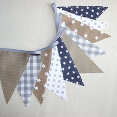 Bunting Fabric Banner Gray Flags Fabric Garland by PopelineDeco Fabric Garland, Fabric Bunting, Bunting Flags, Bunting Garland, Flag Banners, Buntings, Bunting Ideas, Paper Banners, Diy Garland