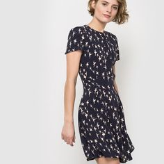 Mademoiselle R | Dress | Ballerina print | Short sleeve