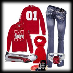 """""""Huskers"""" by meganlouise-f on Polyvore"""