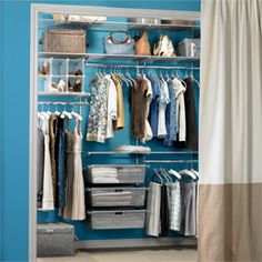 I would love this for one of my walls of my new walk-in closet. Platinum elfa Reach-In @container store