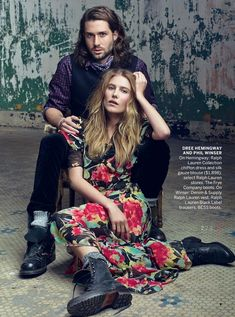 #couplesfashion #bohochic {Dree Hemingway and boyfriend Phil Winser in Vogue}