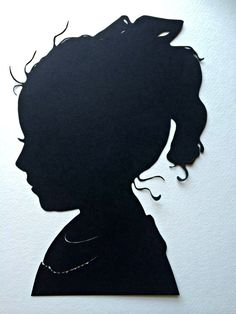 One Custom Paper Cut Silhouette Portrait / Personalized Cameo / Paper Cut Silhouettes by Elle /  Hand Cut Silhouettes by Elle