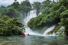 Another day, another epic paddle. @ckorbulic @pedrolivakaiak and @redonkulous2u in Brazil. | #liveyouradventure #kayak #kaiak