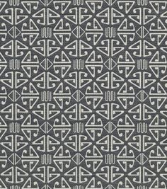 Home Decor Upholstery Fabric-Crypton Aztec-Black