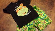 Ninja turtle Shirt and shortsFREE SHIPPING by SouthernBlingBowtiqu, $33.00