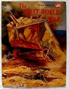 Life magazine cover during world war one showing a tank and promoting the war