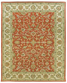 This classic pattern from Due Process has the same great look of some of their more expensive hand knotted rugs at a fraction of the price. Made of high quality wool, this rug is sure to trick the eye of even the most discrimination rug collector....