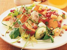 Chicken and Sweet Potato Salad With Pineapple Salsa and other Healthy Lunch Salad Recipes to Take to Work