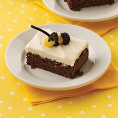 This rich chocolate sheet cake has a creamy peanut butter and honey frosting.