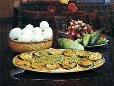 Aubergine omelette recipe (Badimjan chigirtmasi) Eggplant Azerbaijan