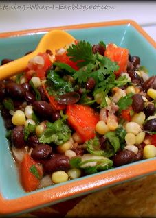 Black Bean Salsa with Sweet Corn! In love with this recipe! | watching what i eat