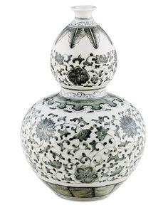 Charcoal Ginger Jar, Gourd Vase #williamssonoma