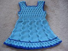 Подробное описание вязание платья спицами
