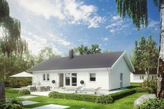 PrioEtt Roof Eaves, Tiny House Cabin, New England, House Plans, Sweet Home, Villa, Home And Garden, How To Plan, Mansions