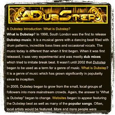 Here is a #Reminder about #Dubstep