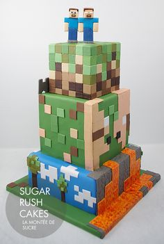 minecraft cake cupcakes / minecraft cake - minecraft cake ideas - minecraft cake easy - minecraft cake birthday - minecraft cakes for boys - minecraft cake pops - minecraft cake cupcakes - minecraft cake diy Minecraft Birthday Cake, Minecraft Cake, Minecraft Party, Minecraft Crafts, Minecraft Skins, Boy Birthday Parties, 8th Birthday, Cake Birthday, Happy Birthday
