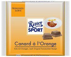 RITTER SPORT Fake Schokolade Canard à l'Orange
