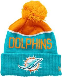 New Era Men s NFL Sport Knit Miami Dolphins Beanie ae4501375904