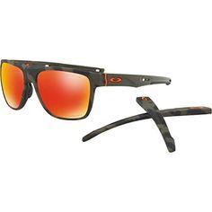 Oakley Mens Crossrange XL Sunglasses Matte Olive Camo/Prizm Ruby One Size