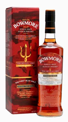 Bowmore The Devil's Casks III - Double The Devil Scotch Whisky : The Whisky Exchange Whiskey Or Whisky, Whiskey Drinks, Single Malt Whisky, Scotch Whiskey, Whiskey Lounge, Rum Bottle, Liquor Bottles, Bowmore Whisky, Wine And Spirits
