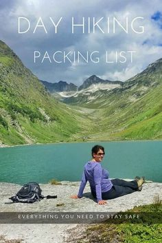A day hiking packing list of everything you need to stay safe and to make for an enjoyable hike in the mountains. Perfect for beginner…