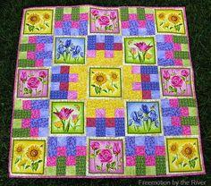 Summer Flower Garden Quilt Tutorial | FaveQuilts.com