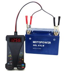 MOTOPOWER MP0514A-UK 12V Digital Battery Tester Voltmeter Alternator Charging System Analyzer with LCD Display and LED Indication