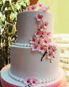 Cherry Blossom, Otaku, Cakes, Drink, Desserts, Ideas, Food, Pretty Cakes, Recipes