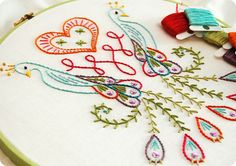 Embroidery Hoop Riot upon Embroidery Stitches In Malayalam Embroidery Motifs, Embroidery Applique, Cross Stitch Embroidery, Embroidery Designs, Learn Embroidery, Embroidery Thread, Machine Embroidery, Crafty Craft, Crafting